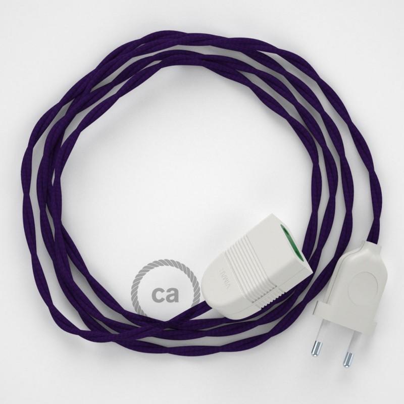 Ceramic lamp holder kit 100% Made in Italy - ENAMEL PURPLE