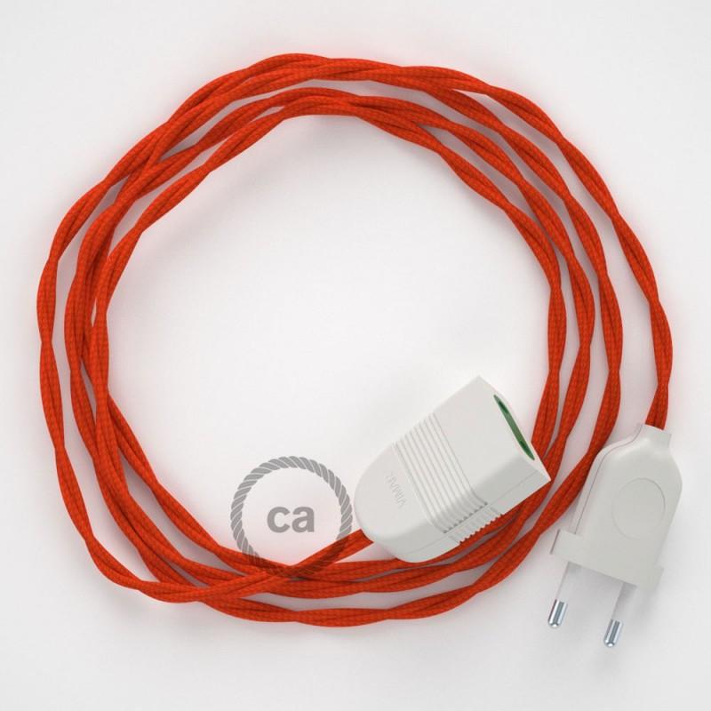 Ceramic lamp holder kit 100% Made in Italy - ORANGE ENAMEL