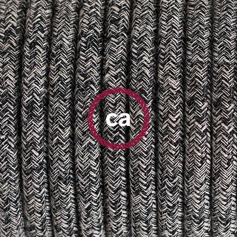 Twisted Electric Cable covered by Rayon solid color fabric TM07 Lilac