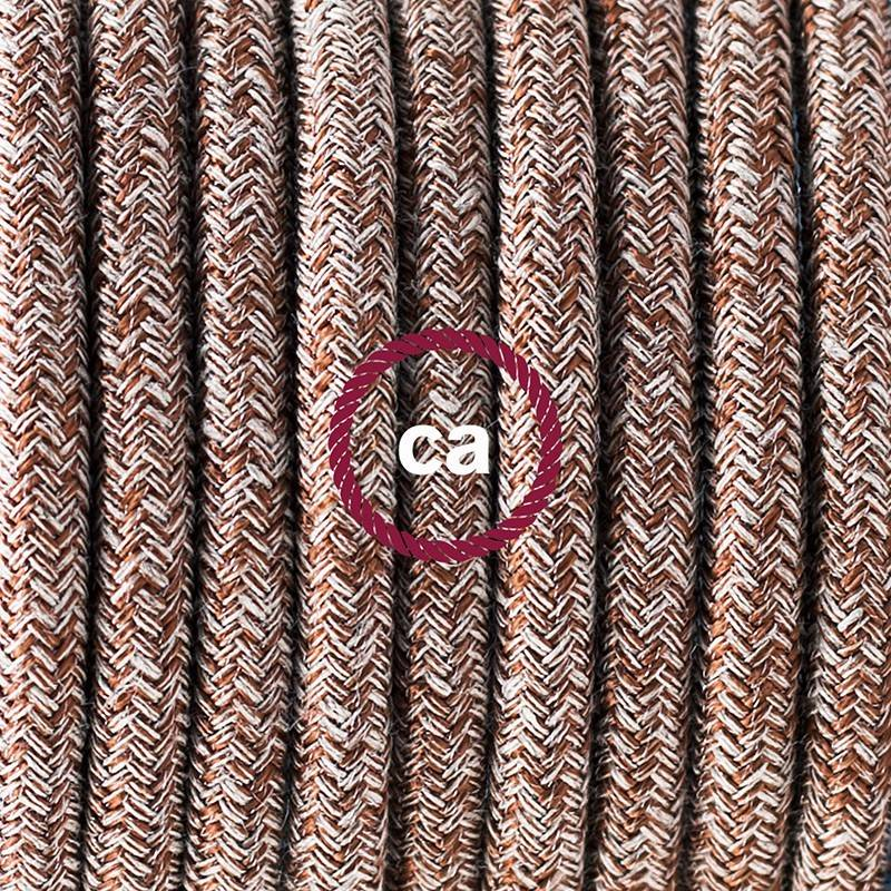 Twisted Electric Cable covered by Rayon solid color fabric TM09 Red