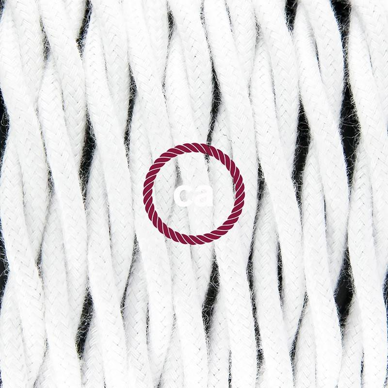 Round Electric Cable covered by Natural Linen RN04 Brown