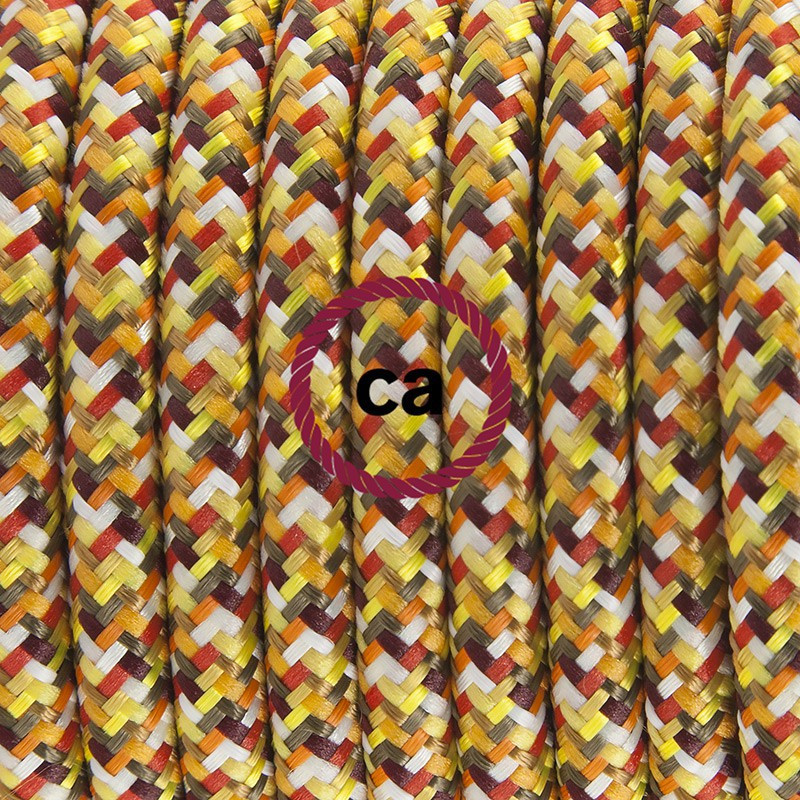 Twisted Electric Cable covered by Natural Linen TN02 Grey