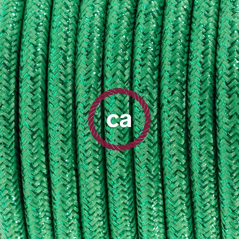 Round Electric Cable covered by Cotton solid color fabric RC43 Dove