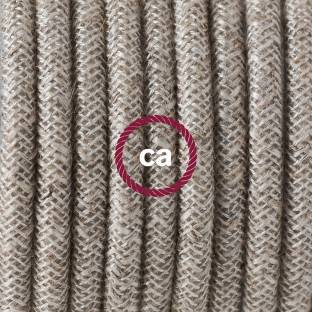 Large section electric cable 3x1,50 twisted - covered by Natural Brown Linen TN04