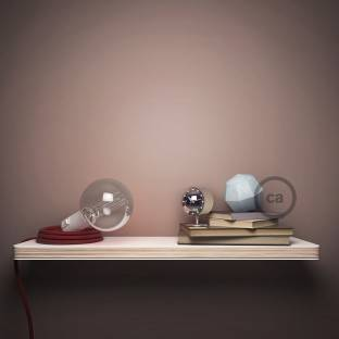 E14 smooth lamp holder in white painted bakelite