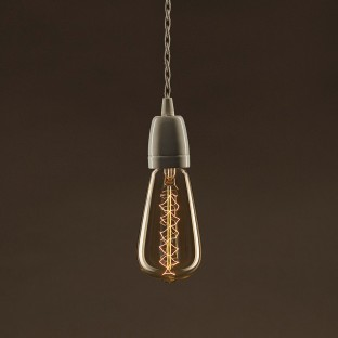 Pinocchio, adjustable black varnished wooden wall mount for pendant lamps.