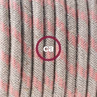 Creative-Tube flexible conduit, Rayon Red RM09 fabric covering, diameter 20 mm
