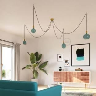 Graphite Dome Lampshade in polyester fibre - 100% handmade