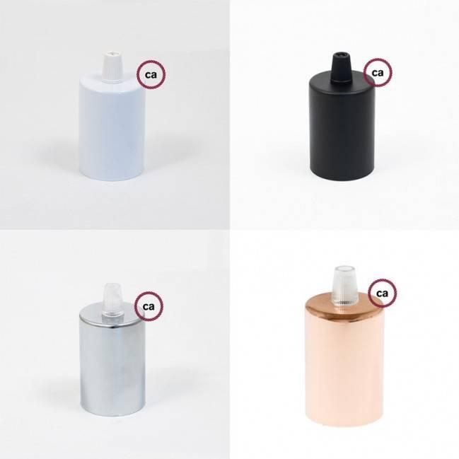 Multi-holes ceramic rose kit 100% Made in Italy - BLACK ENAMEL