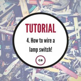 Tutorial #4 - How to wire a lamp switch!